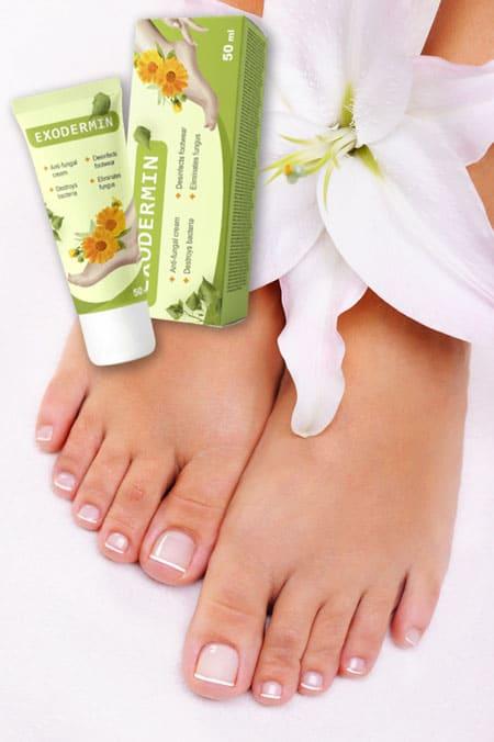 dbaj o stopy stosując krem exodermin unikniesz grzybicy